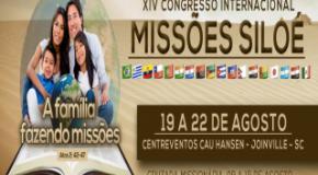 Assembleia de Deus em Joinville realizará de 19 a 22 de agosto o XIV Congresso Internacional de Missões Siloé