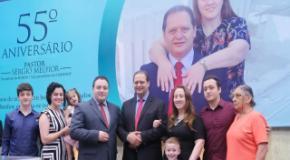 CIADESCP, IEADJO e autoridades celebram o 55º aniversário do Pastor Sérgio Melfior