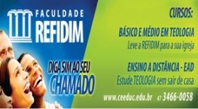 Abertas as inscrições para o processo seletivo de Bacharel em Teologia para o 2º semestre 2013