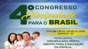 Joinville sediará o 4º Congresso Discipulado para o Brasil