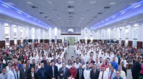 Em domingo de Páscoa IEADJO realiza Batismo de 167 novos membros