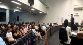 Representantes da IEADJO falam sobre a Páscoa em evento para servidores da CVJ