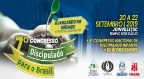 DISCIPULADO PARA O BRASIL: 7º Congresso acontece de 20 a 22 de setembro na IEADJO