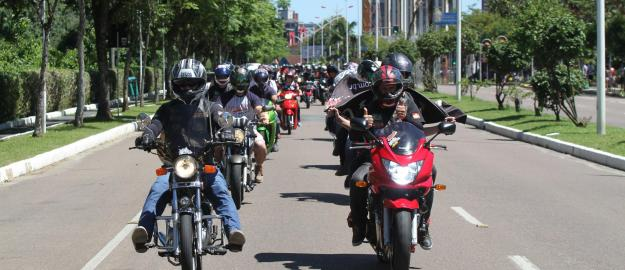 UMADJO ROAD abençoando o trânsito de Joinville.