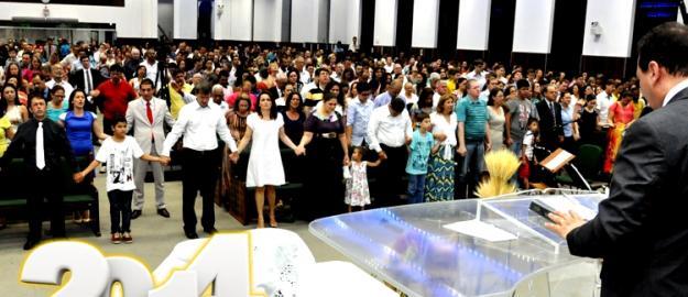 Igreja participa do Culto da Virada