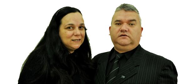 Luis Rogério Gravieski e Raquel Gravieski